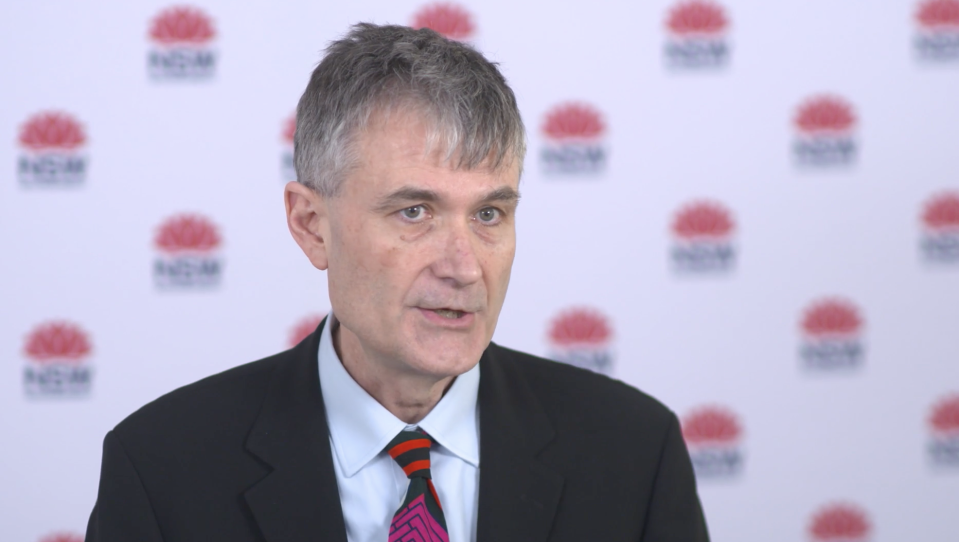 Dr Jeremy McAnulty said there were 18 new coronavirus cases in NSW on Sunday.  Source: NSW Health