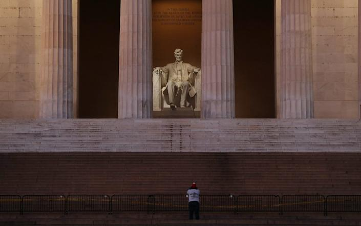 The Lincoln Memorial is seen the day after a pro-Trump mob broke into the U.S. Capitol Building - Joe Raedle /Getty Images North America