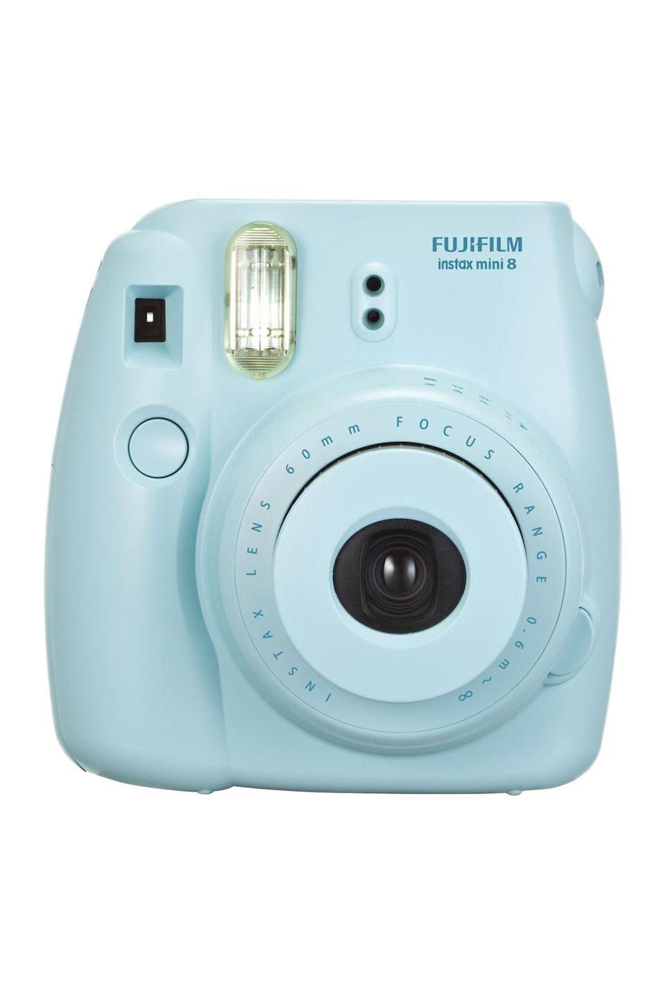 """<p><a rel=""""nofollow noopener"""" href=""""https://www.amazon.com/Fujifilm-Instax-Mini-Instant-Pink/dp/B00AWKJPOA"""" target=""""_blank"""" data-ylk=""""slk:BUY NOW"""" class=""""link rapid-noclick-resp"""">BUY NOW</a> <strong><em>$62.36, Amazon</em></strong></p><p>Polaroid-style photos are a click away thanks to this instant camera, which also has automatic exposure measurement for perfect pictures every time. </p>"""