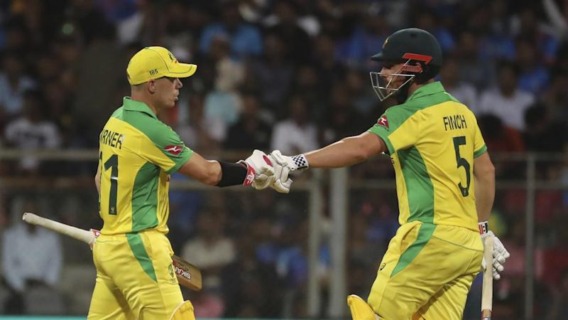 Aaron Finch and David Warner have led Australia to a stunning 10-wicket win over India