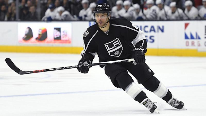 Kings right wing Jarome Iginla pursues the puck during a game against Toronto on Thursday.