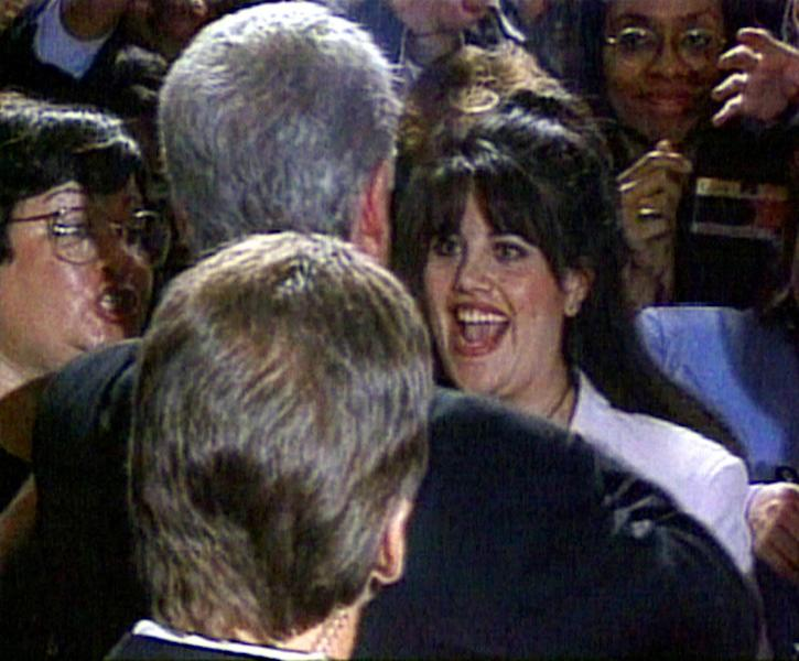 Former US president Bill Clinton is probably the best known survivor of impeachment proceedings after a sex scandal involving Monica Lewinsky (R) (AFP Photo/)