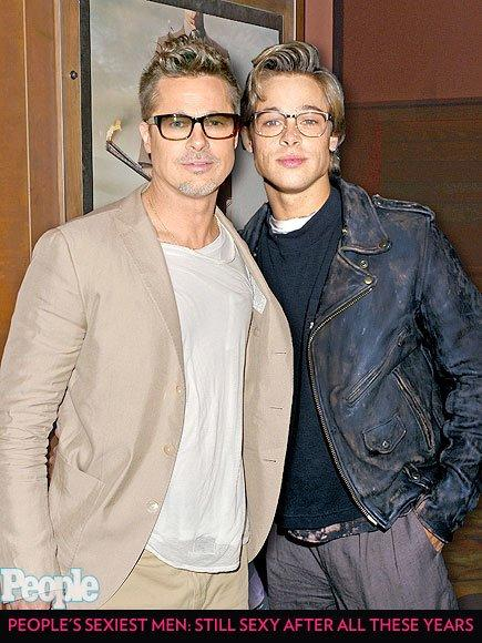 """<b>Sexiest Man Alive Years:</b> 2000 and 1995  <br /><br />Whether he is wearing shades or spectacles, <a href=""""/tag/bradpitt/"""">Pitt</a> is always 'looking' good."""