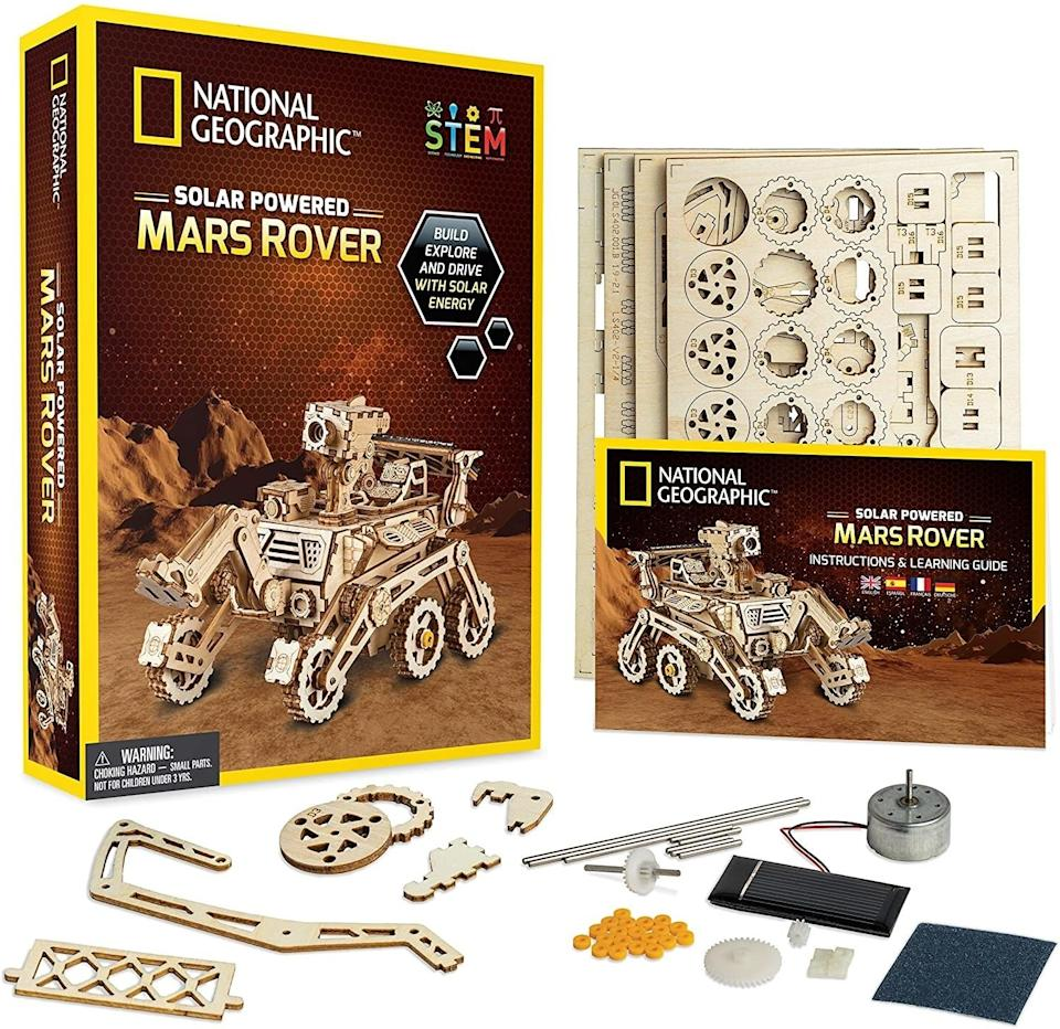 """Learn about the Red Planet with this fun hands-on model set that'll entertain you and the kiddos for hours on end.<br /><br /><strong>Promising review:</strong>""""<strong>Great for those who enjoyed Lego as a kid</strong>and those who can be careful! These models made the perfect gift for my husband. He loves everything space-related and was a Lego kid growing up. I told him he would need to be quite gentle with these parts (as reviews mention, they break easily). ...<strong>He is overjoyed with these models and can't wait to display them at work!</strong>"""" —<a href=""""https://amzn.to/3bCoJ99"""" target=""""_blank"""" rel=""""nofollow noopener noreferrer"""" data-skimlinks-tracking=""""5851345"""" data-vars-affiliate=""""Amazon"""" data-vars-href=""""https://www.amazon.com/gp/customer-reviews/R1NK008ZELJY8Z?tag=bfnusrat-20&ascsubtag=5851345%2C17%2C34%2Cmobile_web%2C0%2C0%2C16317837"""" data-vars-keywords=""""cleaning,fast fashion"""" data-vars-link-id=""""16317837"""" data-vars-price="""""""" data-vars-product-id=""""20939489"""" data-vars-product-img="""""""" data-vars-product-title="""""""" data-vars-retailers=""""Amazon"""">Amazon Customer<br /><br /></a><strong><a href=""""https://amzn.to/3fsVcQv"""" target=""""_blank"""" rel=""""noopener noreferrer"""">Get it from Amazon for$24.99.</a></strong>"""