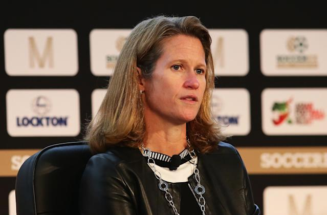Kathy Carter is one of the favorites in Saturday's United States Soccer Federation presidential election. (Getty)