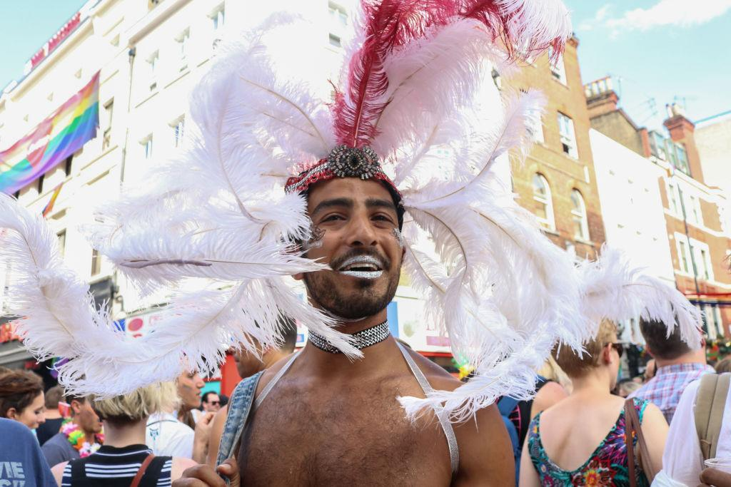 <p>Revellers turned out for Pride London – thought to be the biggest ever [Picture: Getty] </p>