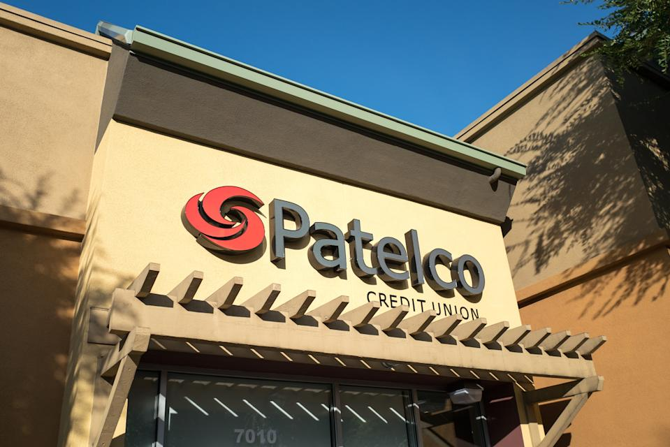 Patelco Credit Union with sign and logo in Dublin, California, July 23, 2018. (Photo: Smith Collection/Gado/Getty Images)