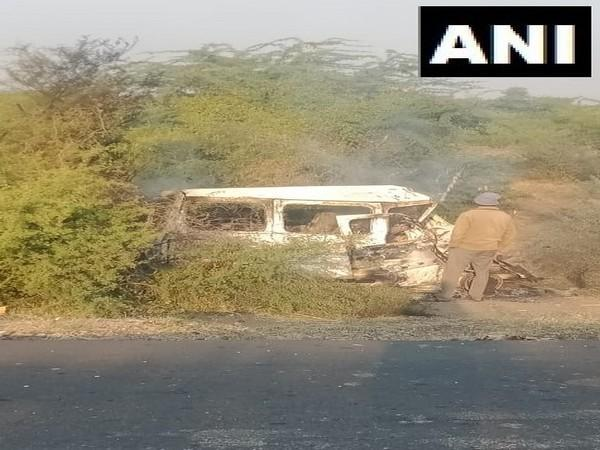 The car in a mangled condition. (Photo/ANI)