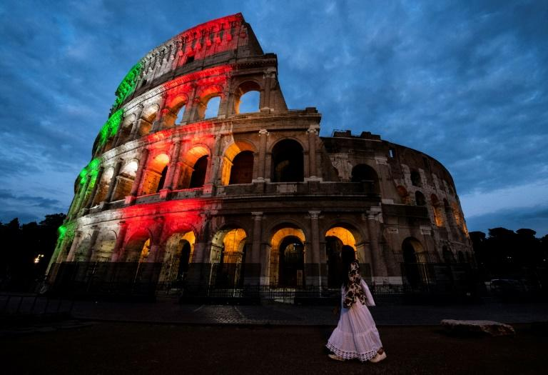 The Colosseum in Rome reopened on Monday as Italy continued to ease its lockdown