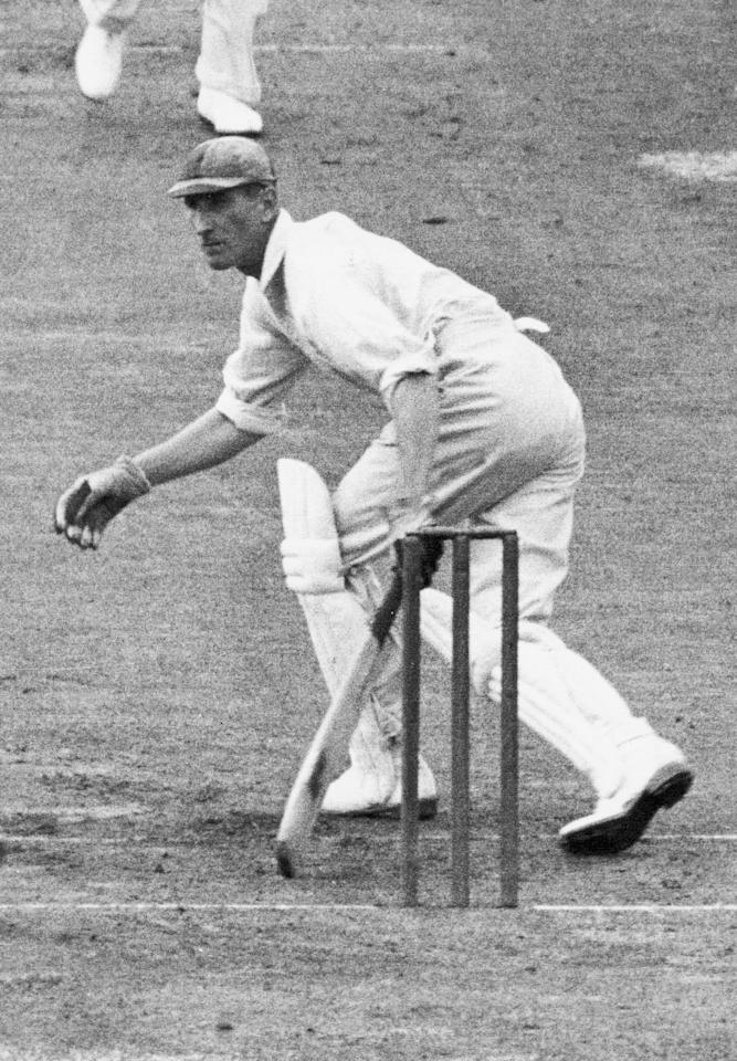 ENGLAND - UNDATED:  Douglas Jardine of England in action during a match. (Photo by Getty Images)