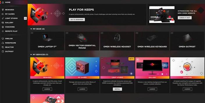 HP recently unveiled its OMEN Gaming Hub software.