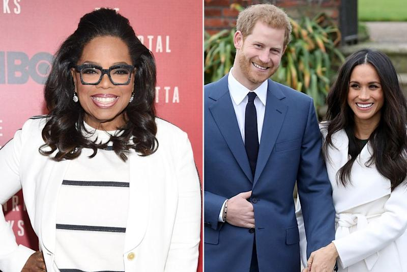 Oprah Winfrey, Prince Harry and Meghan Markle | Dimitrios Kambouris/Getty Images; Chris Jackson/Getty Images