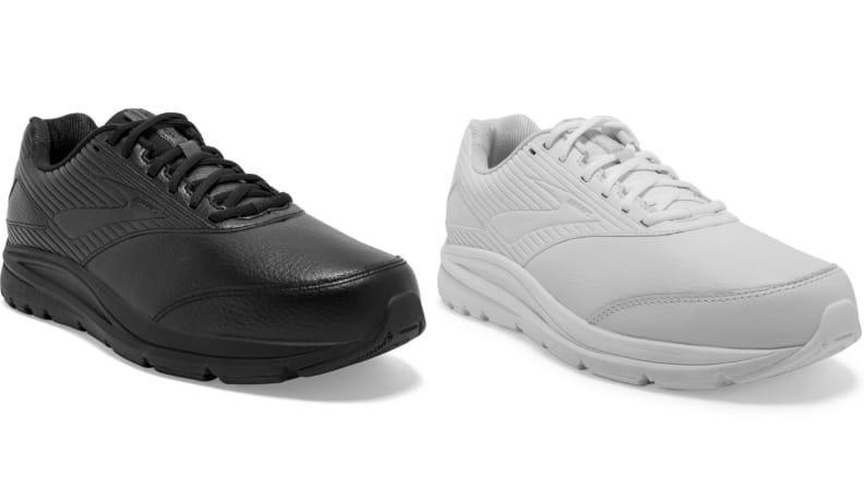 This traditional walker shoe by Brooks is stable and slip-resistant.