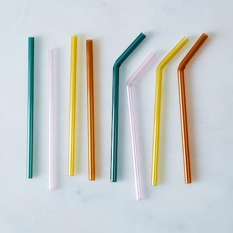 These glass straws are chic and resemble the real thing - Credit: juiceglass/food52
