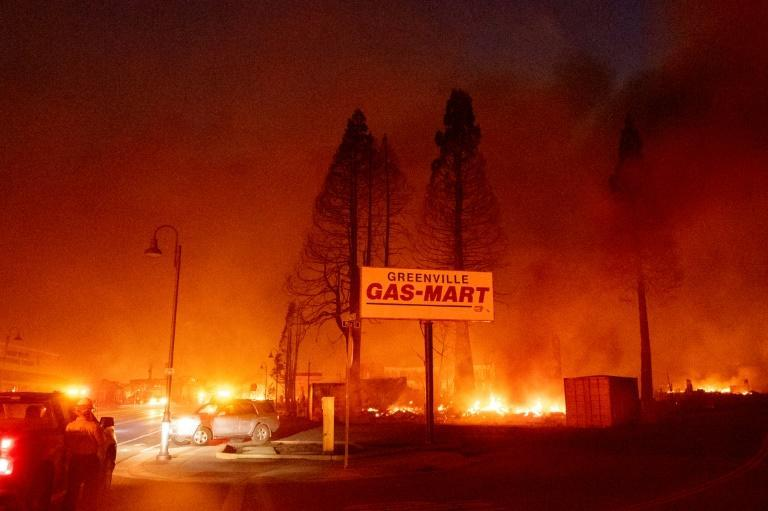 A gas station, a hotel and a bar were destroyed in Greenville, California, as well as many buildings that were more than a century old