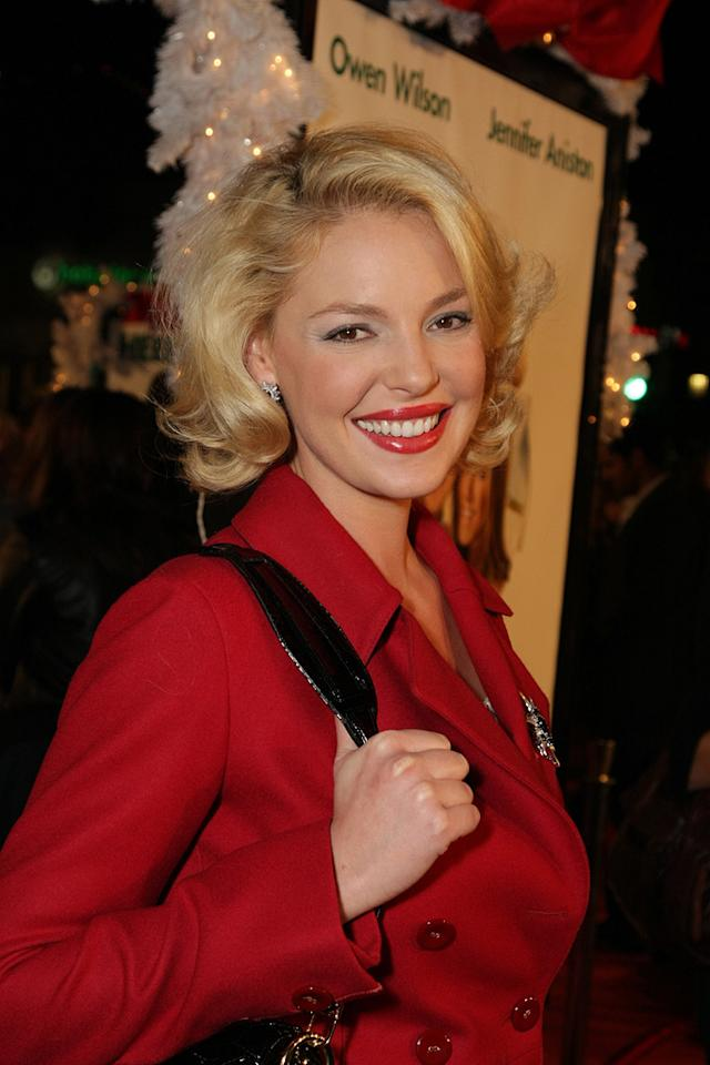 "<a href=""http://movies.yahoo.com/movie/contributor/1800018759"">Katherine Heigl</a> at the Los Angeles premiere of <a href=""http://movies.yahoo.com/movie/1809995057/info"">Marley & Me</a> - 12/11/2008"