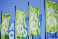 A general view of Australian Open flags in Melbourne
