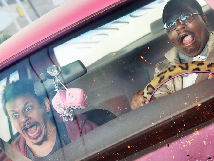 Eric Andre and Lil Rel Howery star in BAD TRIP Netflix