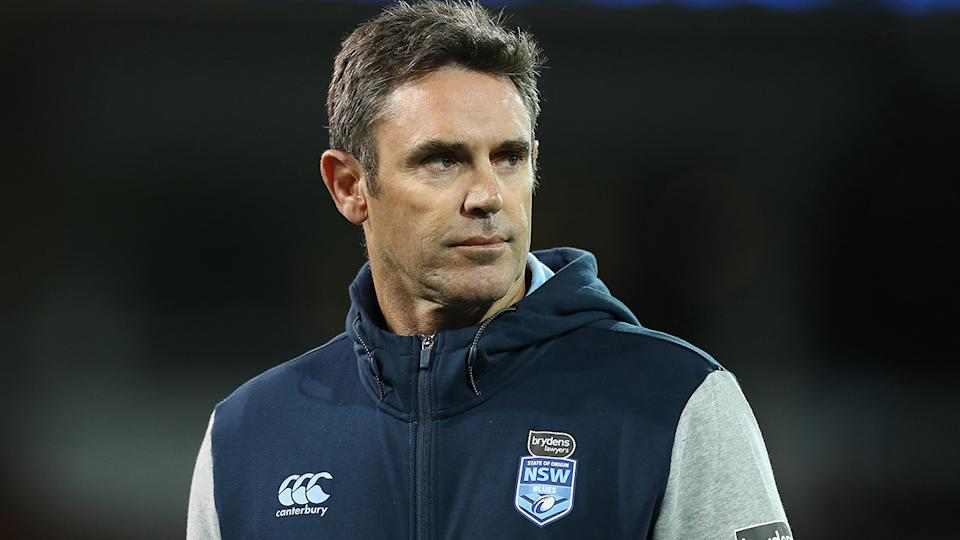 NSW Blues coach Brad Fittler is pictured after the first match of State of Origin 2020.