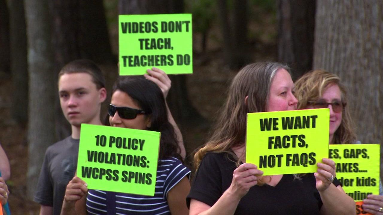 Frustrated parents voiced their concerns over a controversial math curriculum Tuesday night at the Wake County School Board meeting, where a committee tasked with investigating alleged violations presented its findings.