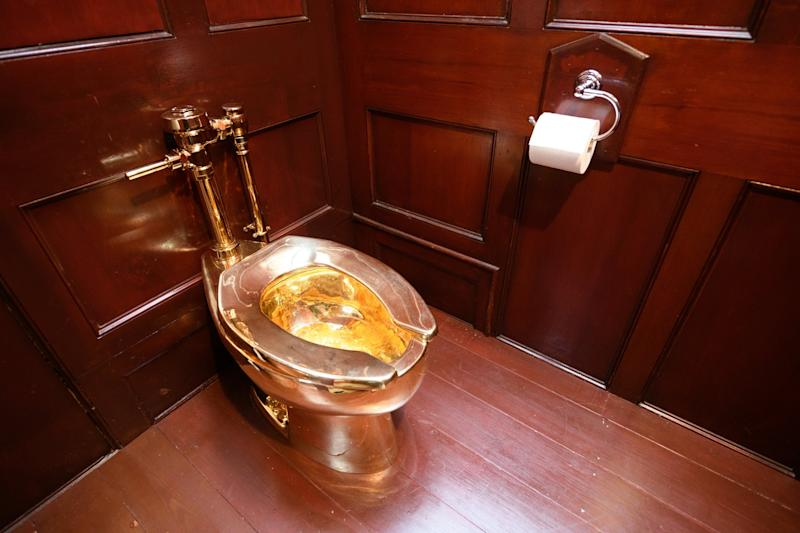 The toilet was open to public use at the palace on September 12: Getty Images