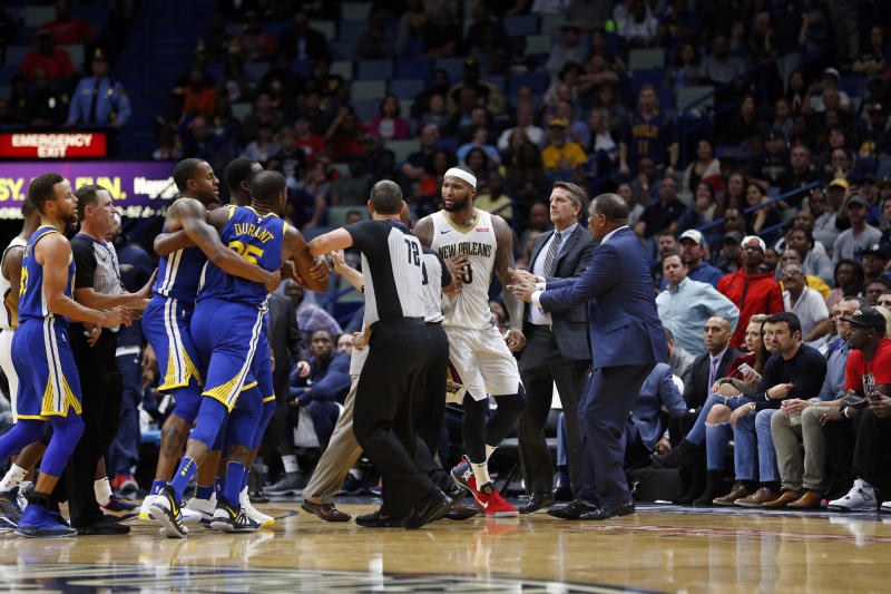 2678b1ce09d7 DeMarcus Cousins tried to confront Kevin Durant in locker room after  ejection