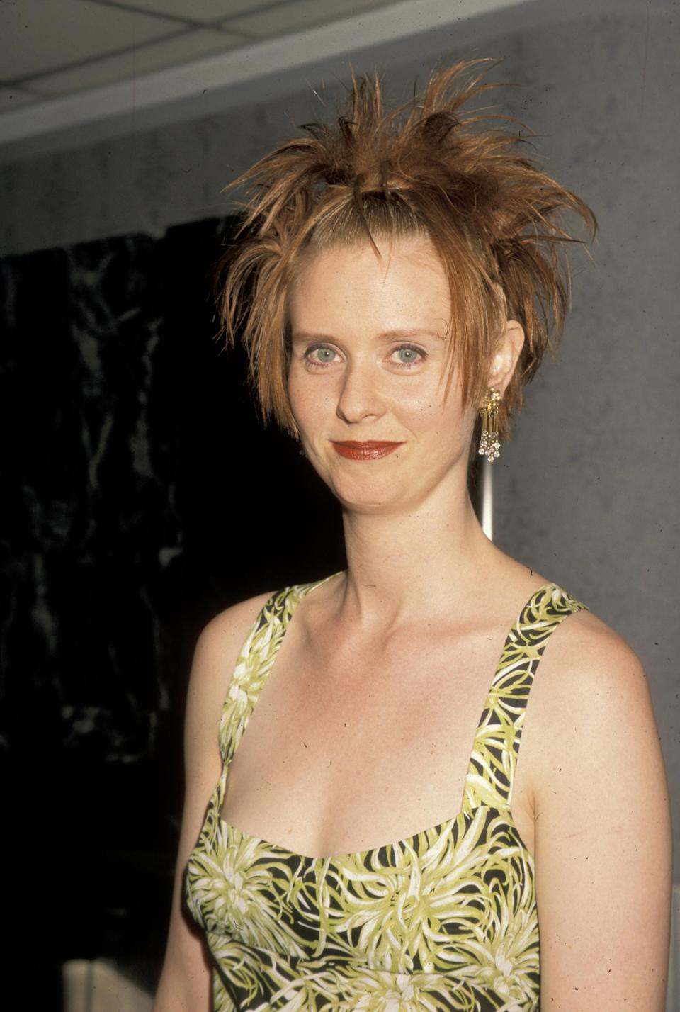 Cynthia Nixon was #90shairgoals at the <i>Sex and the City</i> premiere. (Photo: Ron Galella, Ltd./WireImage)