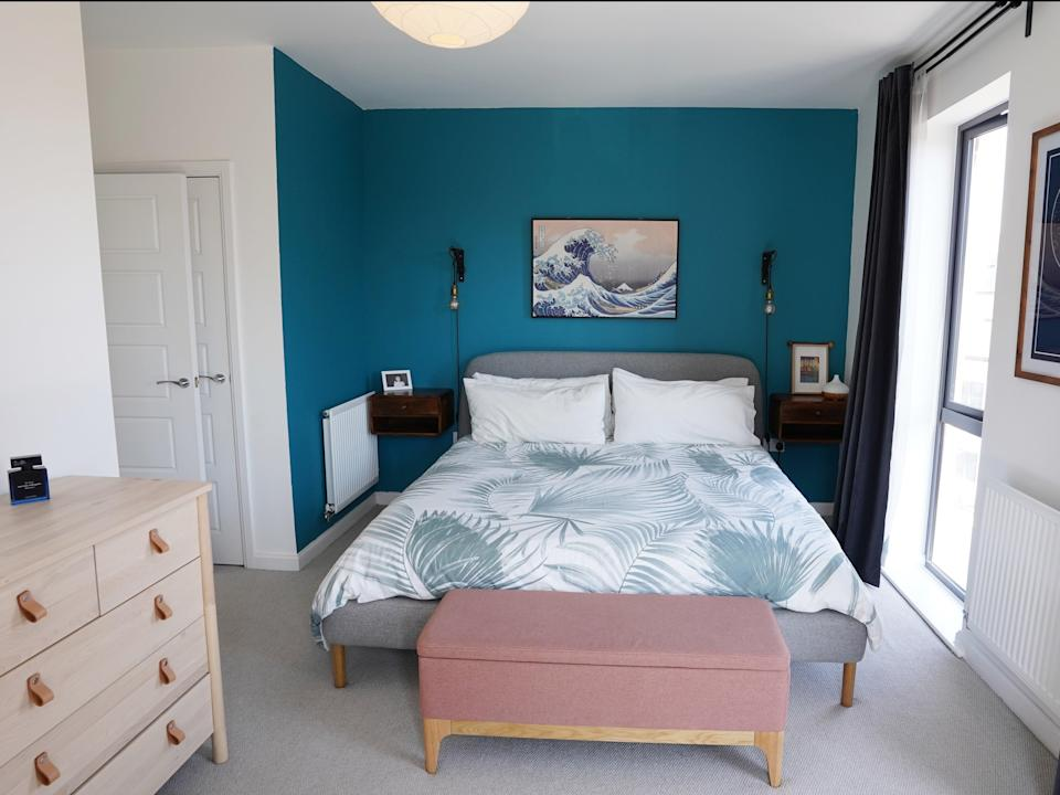 A view of one of three bedrooms inside the Coulsdon townhouse being raffled off for £3 (Yumi Palmer)