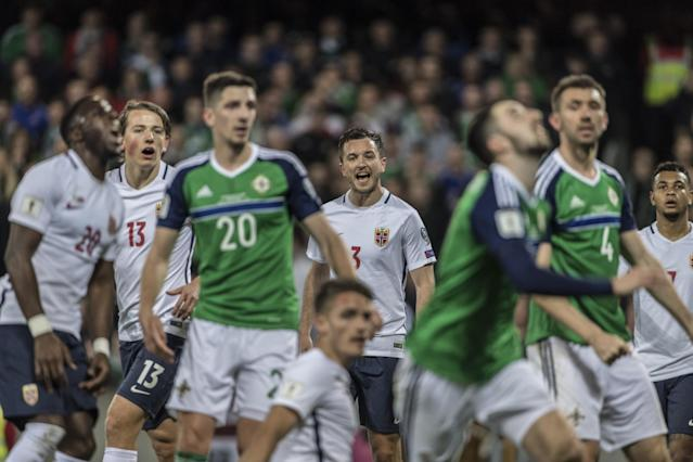 <p>Northern Ireland take on Norway in a World Cup qualifier and emerge 2-0 winners, thanks to Jamie Ward and Conor Washington </p>