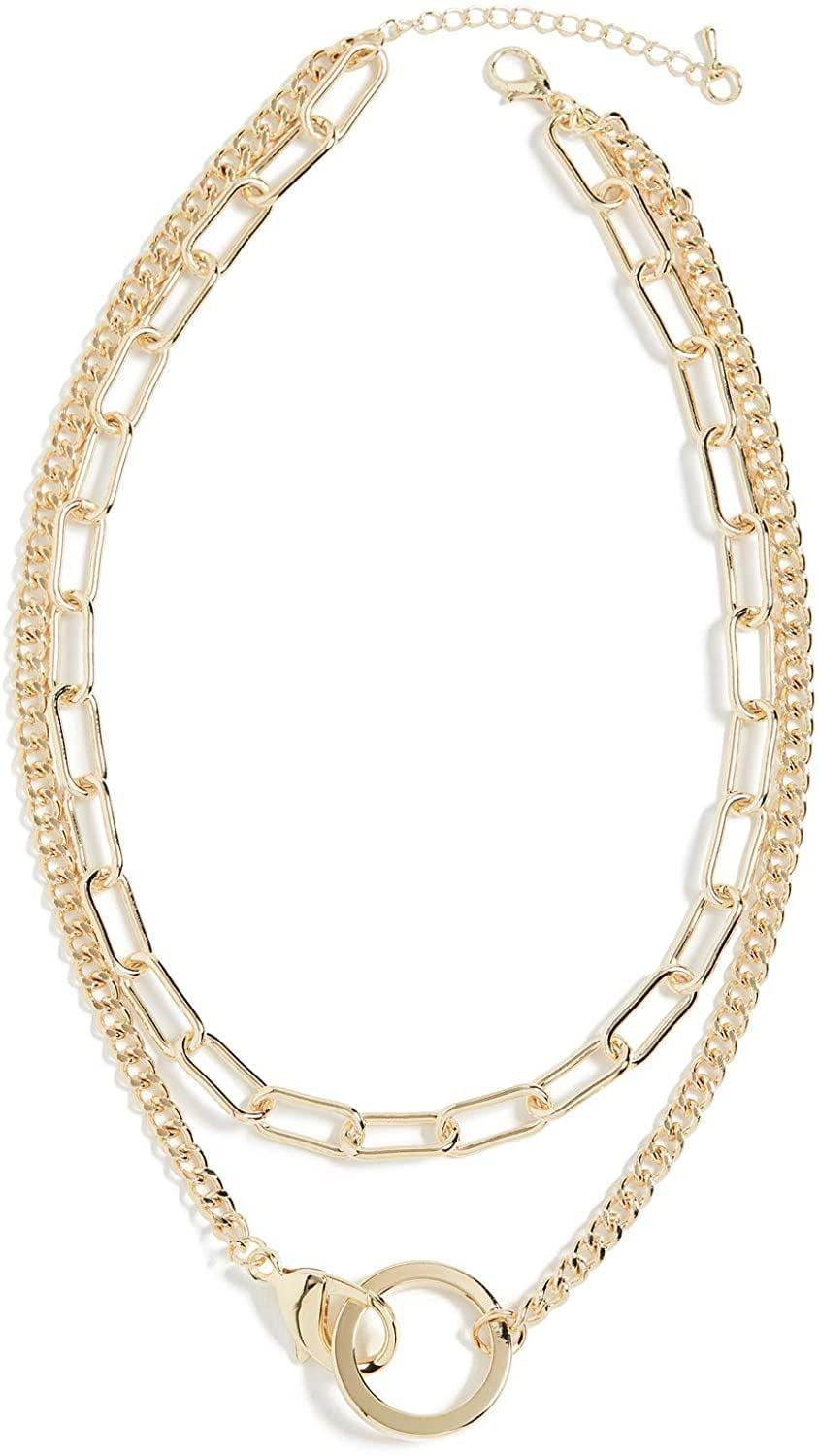 <p>This <span>Jules Smith Lobster Claw Pendant Necklace</span> ($70) is how you do a necklace stack. The best part is, the chains won't get all stuck together.</p>