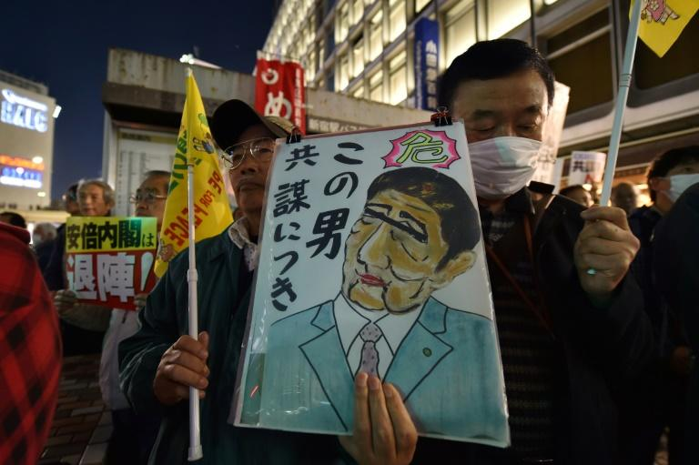 Critics have mounted protests over Prime Minister Shinzo Abe's policies, including his support for a controversial imperial edict
