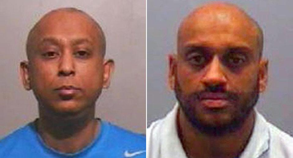 Mohibur Rahman (left) admitted conspiracy to incite prostitution and drugs charges. Nadeem Aslam (left) was convicted of drugs offences. (PA)
