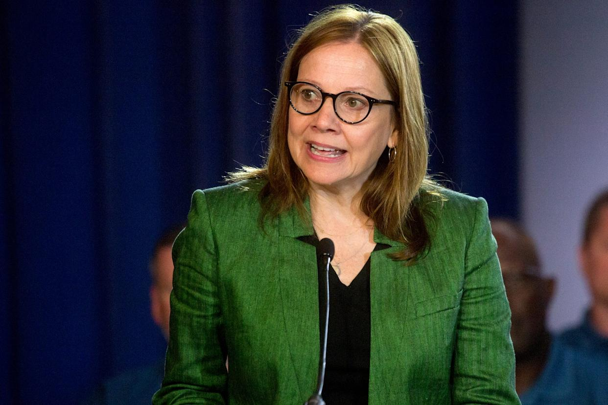 General Motors Co. Chairman and CEO Mary Barra speaks before the 2019 contract talks for a new national agreement on Tuesday, July 16 at the Detroit Marriott Renaissance Center 2019.