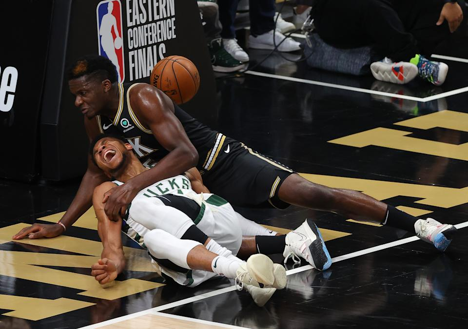 Giannis Antetokounmpo's injury changed the Eastern Conference finals. (Photo by Kevin C. Cox/Getty Images)