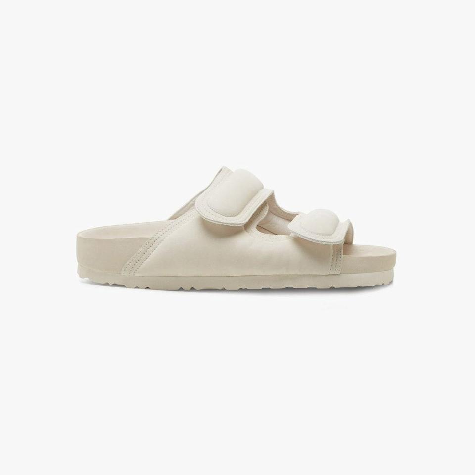"""$510, MATCHESFASHION.COM. <a href=""""https://www.matchesfashion.com/us/products/Birkenstock-X-Toogood-The-Beachcomber-padded-leather-sandals-1398896"""" rel=""""nofollow noopener"""" target=""""_blank"""" data-ylk=""""slk:Get it now!"""" class=""""link rapid-noclick-resp"""">Get it now!</a>"""