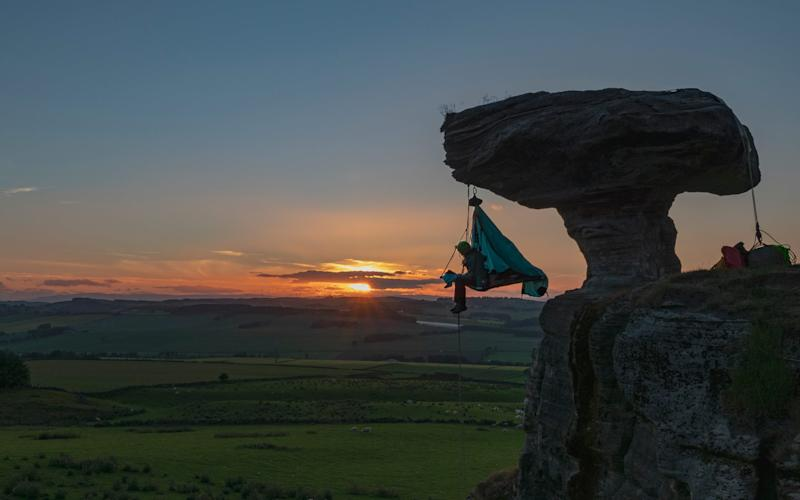 Extreme sleeper Phoebe Smith dangled off 10 UK landmarks in her quest to raise more than £40k for Centrepoint, the young people's homeless charity - Zac Bentley