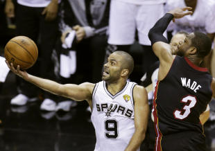 Tony Parker led the Spurs with 21 points in Game 2. (AP)