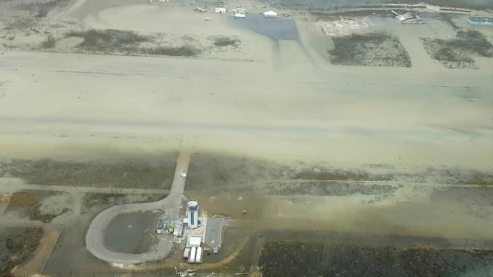 An aerial view of the Marsh Harbour Airport after hurricane Dorian hit the Abaco Islands in the Bahamas, September 3, 2019, in this still image from video obtained via social media. (Photo: Terran Knowles/Our News Bahamas/via Reuters)