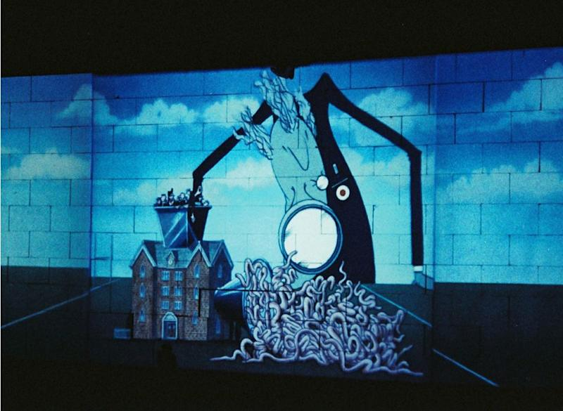 Stage design for The Wall at Earls Court, London, 1981.   Pete Still/Redferns