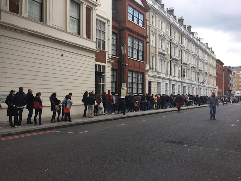 Some people said they were told the queue was three hours long (Alexandra Marquez)