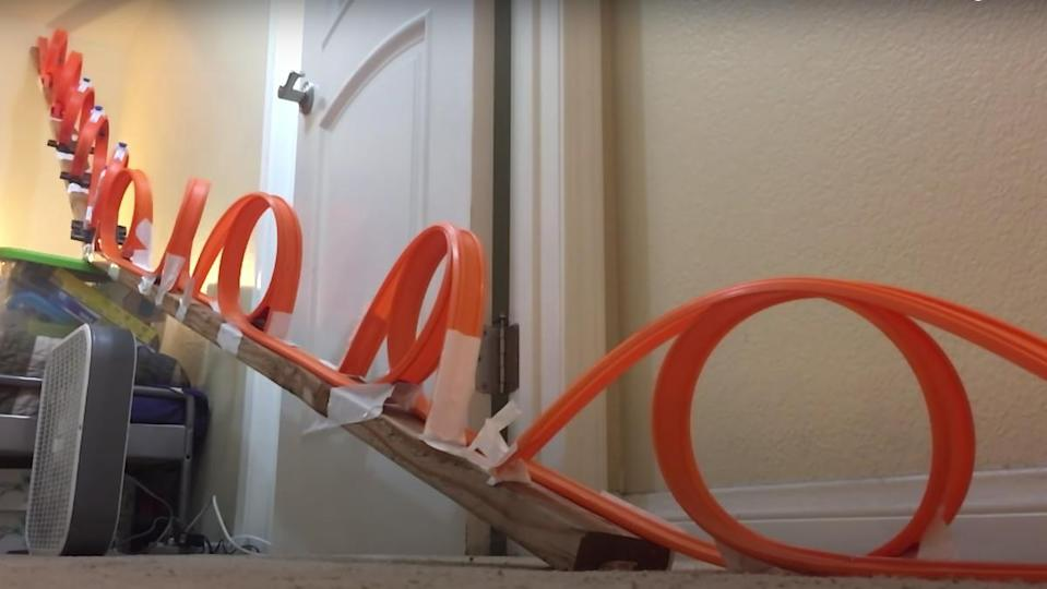 The YouTube channel, 5MadMovieMakers, has set a new Guinness World Record for most Hot Wheels loop-the-loops.