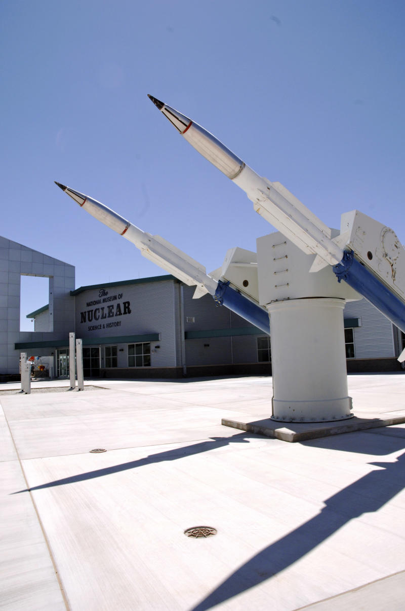 This March 18, 2011 photo courtesy of The National Museum of Nuclear Science & History shows a Terrier missile launcher in front of the museum in Albuquerque, N.M. The crisis in Japan has boosted interest in nuclear-related museums and plants.   (AP Photo/National Museum of Nuclear Science & History)  NO SALES