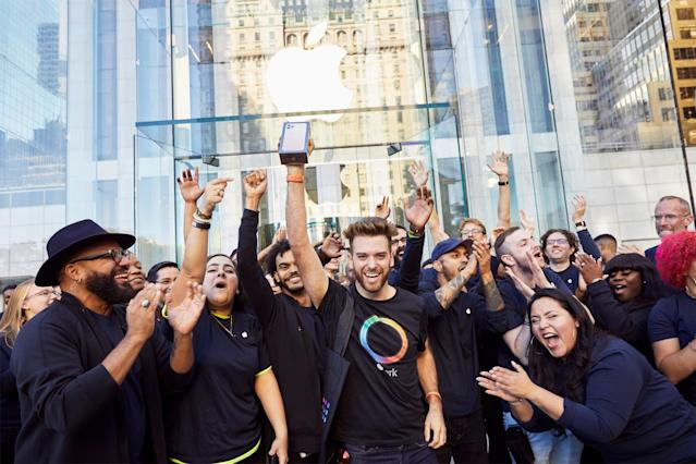 Jubelstimmung in New York bei iPhone 11-Launch (Foto: © Apple)