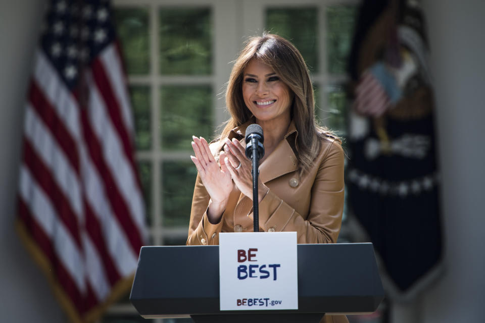 Melania Trump was in New York on President Trump's birthday. (Photo: Getty Images)