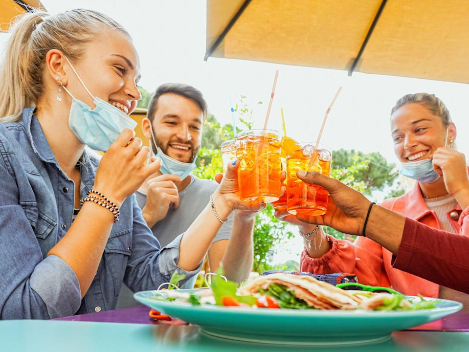 <p>Many pubs are already taking bookings for tables outside </p> (Getty Images/iStockphoto)