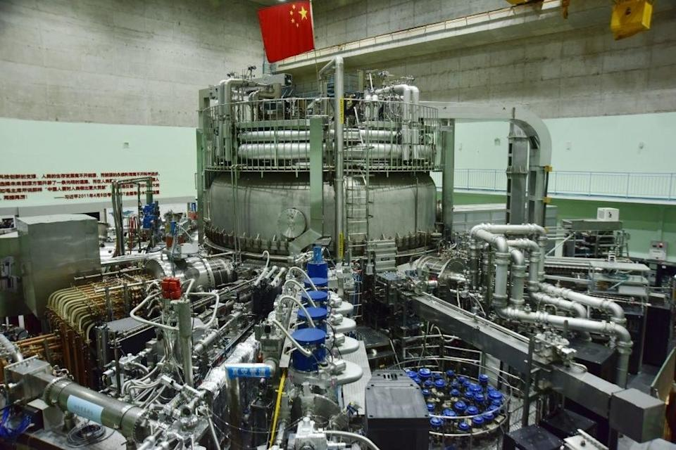 A large metal reactor that almost looks like an enormous engine