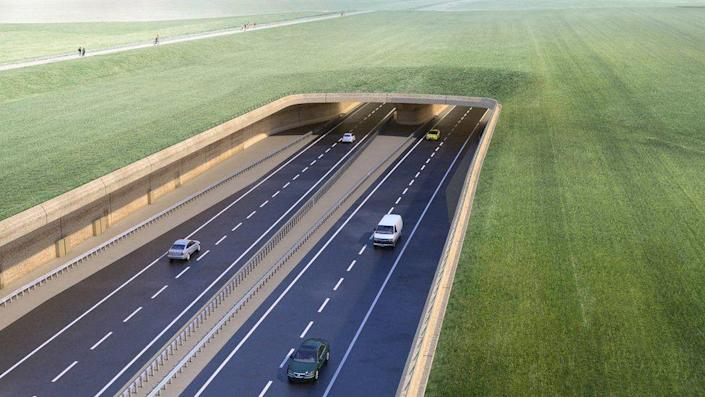 The proposed tunnel on the A303 would have taken five years to build (Highways England)
