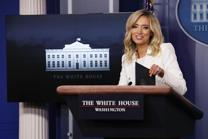White House Press Secretary Kayleigh McEnany conducts briefing in Washington, D.C., on May 6, 2020.