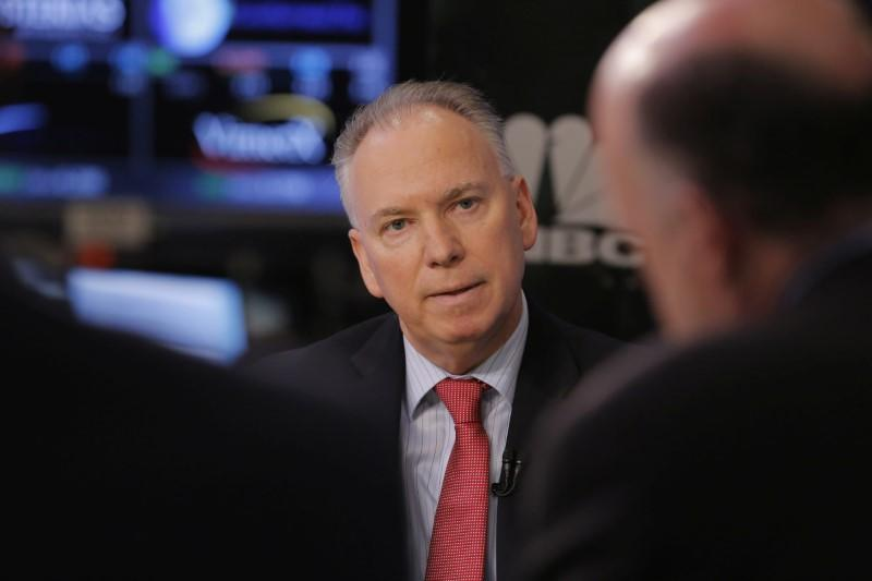 FILE PHOTO: Xerox chief executive officer, Jeff Jacobson, takes part in an interview on the floor of the NYSE in New York