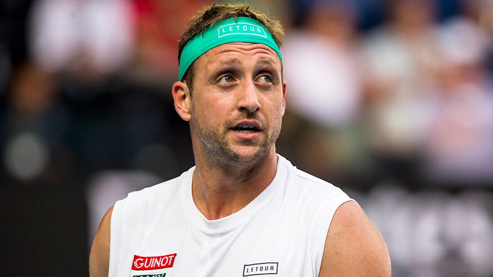 Pictured here, American tennis player Tennys Sandgren at the 2020 Australian Open.